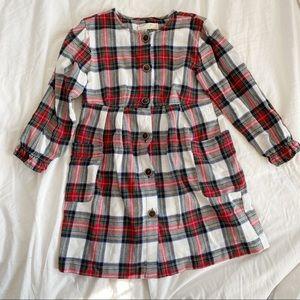 Zara Girls Plaid Flannel Tunic Dress Size 9